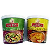 Bild von Mae Ploy Combo Yellow Curry Paste 400g + Green Curry Paste 400g