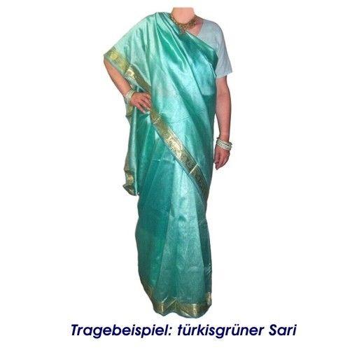 Brokat Sari Beige Hellorange Goldbrokat Bindi Ohrhänger Wickelkleid Polyester Süd- & Zentralasien