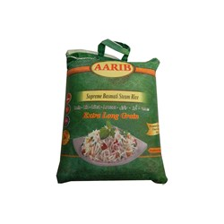 Bild von Aarib Supreme Basmati Steam Rice 5 KG Extra Long Grain