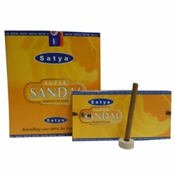 Bild von Stock 120 coni d'incenso Satya Super Sandal Dhoop Sticks
