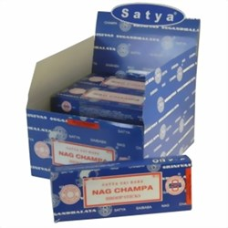 Bild von 120 palitos de incienso Satya Nag Champa Dhoop Sticks pack