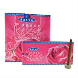Bild von 120 palos de incienso Satya Fresh Rose Dhoop Sticks pack