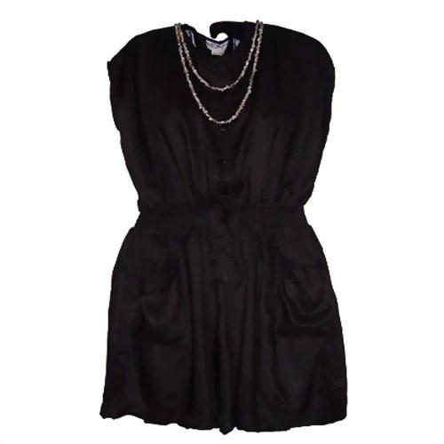 finest selection 469db 5ca40 Sommerkleid schwarz Bermuda Rayon Kleid Damen Strandkleid