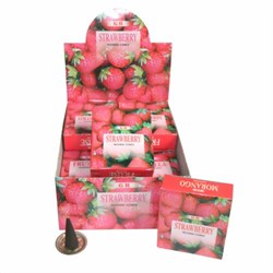 Bild von Stock 120 coni d'incenso Strawberry